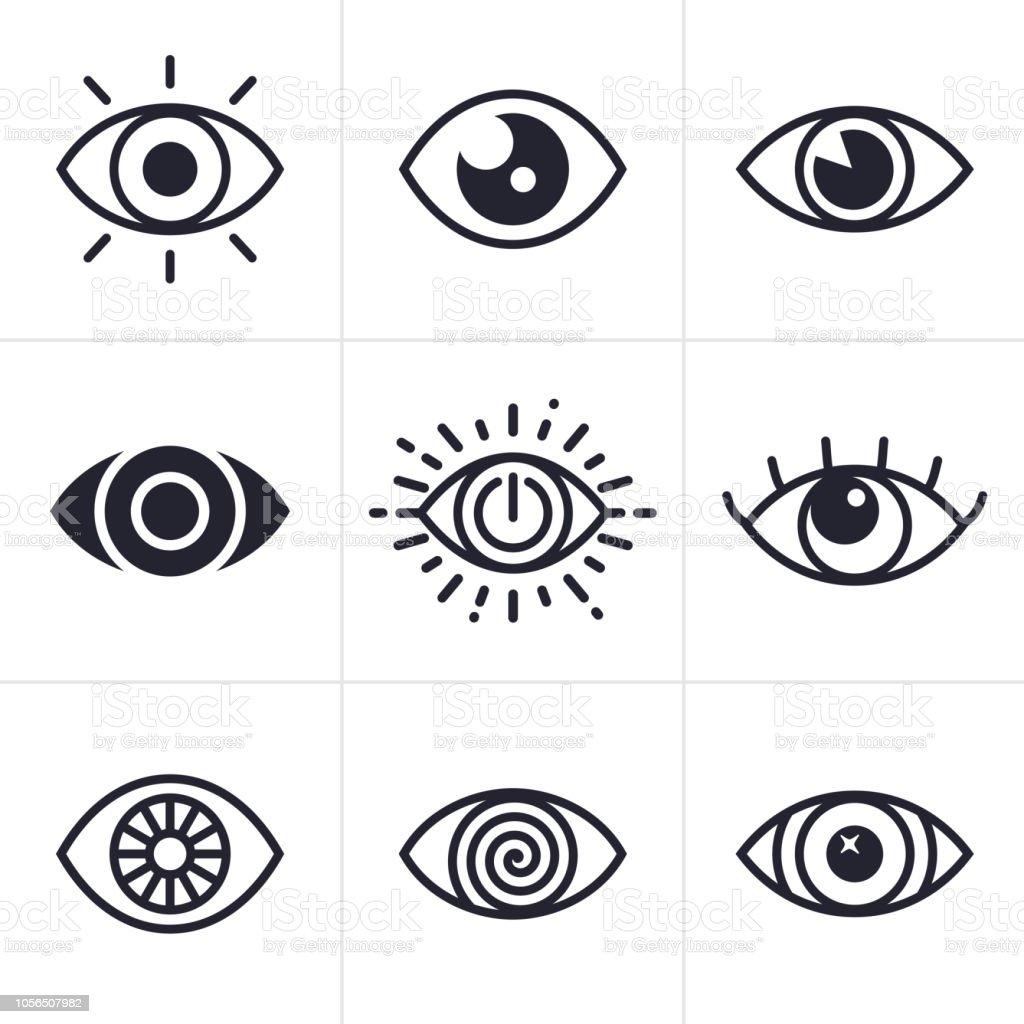 Eye Symbols - Векторная графика Абстрактный роялти-фри