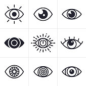 Eye symbol collection.