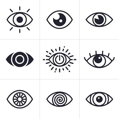Eye Symbols — стоковая векторная графика и другие изображения на тему Абстрактный