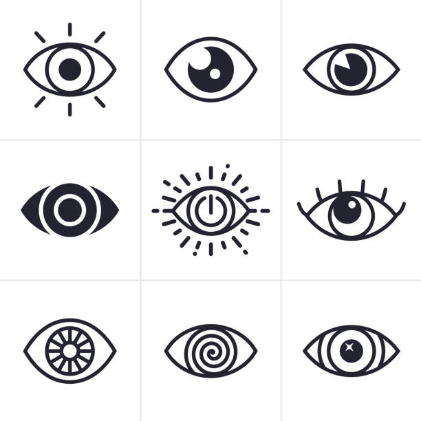 eye symbols - глаз stock illustrations