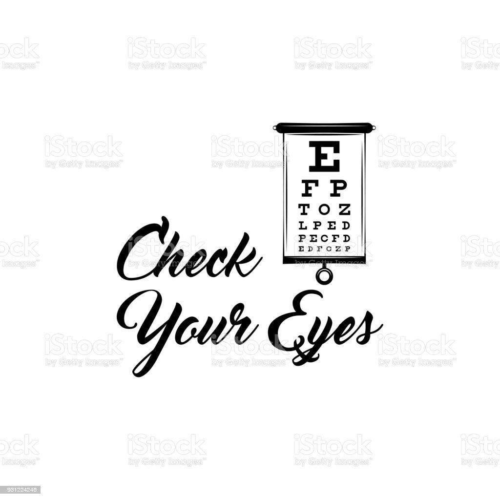 Eye Test Chart Vision Exam Optometrist Check Medical Eye Diagnostic