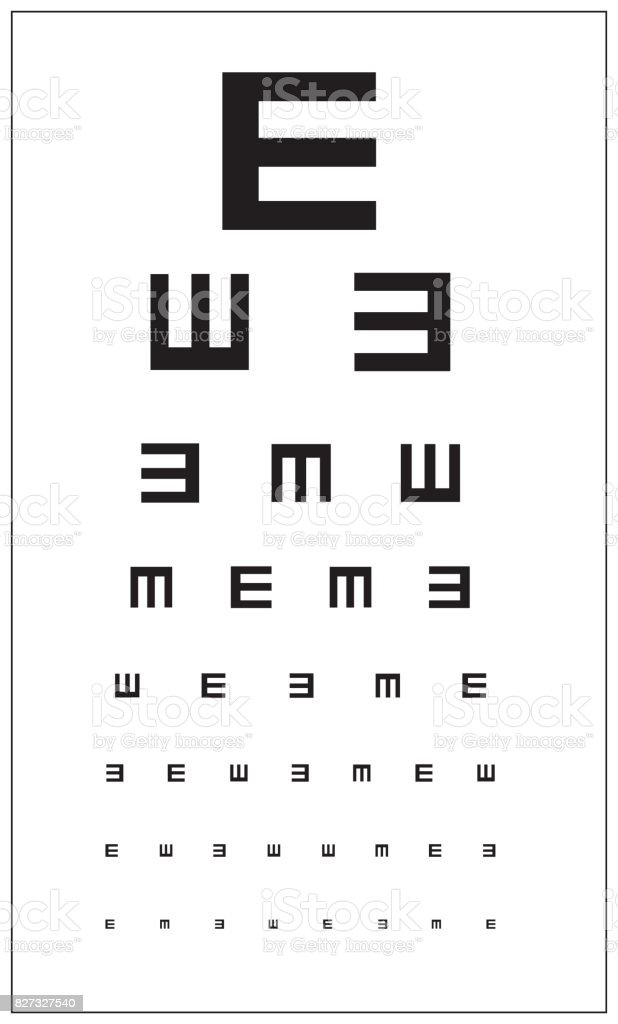 Eye test for ophthalmologists. vector art illustration