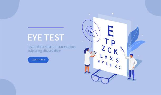 augentest - illustration optician stock-grafiken, -clipart, -cartoons und -symbole