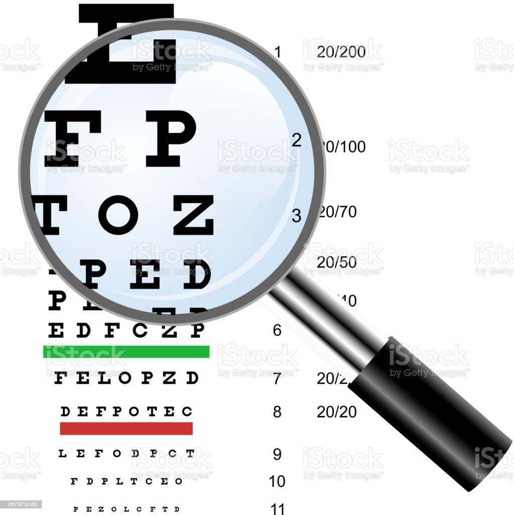 Eye  test royalty-free stock vector art