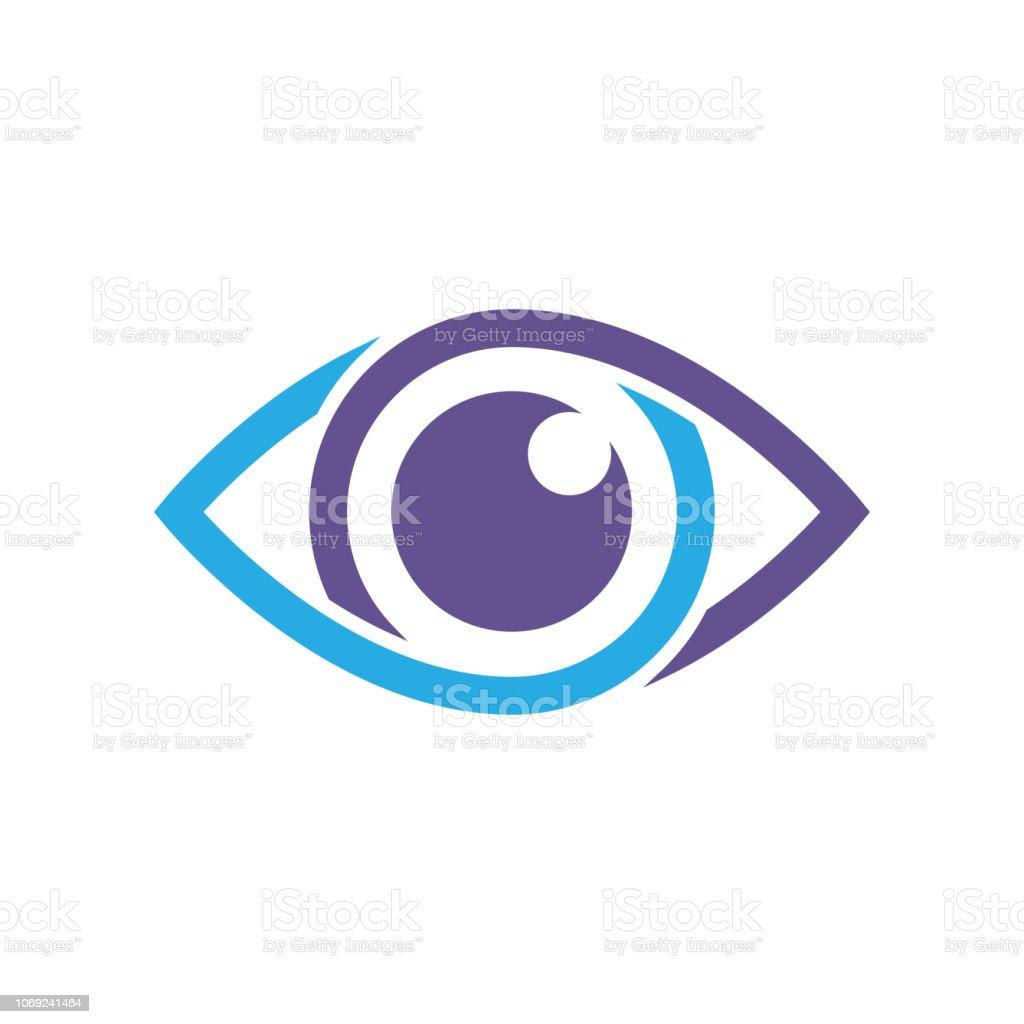 Eye vector icon, vector best flat icon, EPS 10 vector art illustration