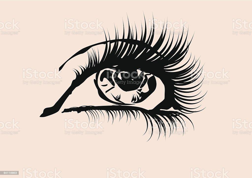 eye royalty-free stock vector art