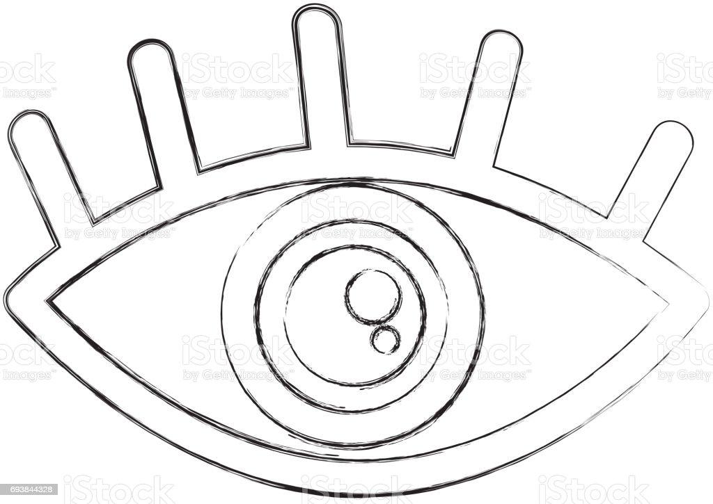 Ilustración de Icono De Símbolo De Vista Ojo y más banco de imágenes ...