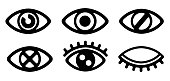 eye / view / vision / visible /display icon set