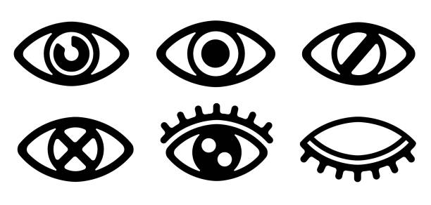 eye / view / vision / visible /display icon set - глаз stock illustrations