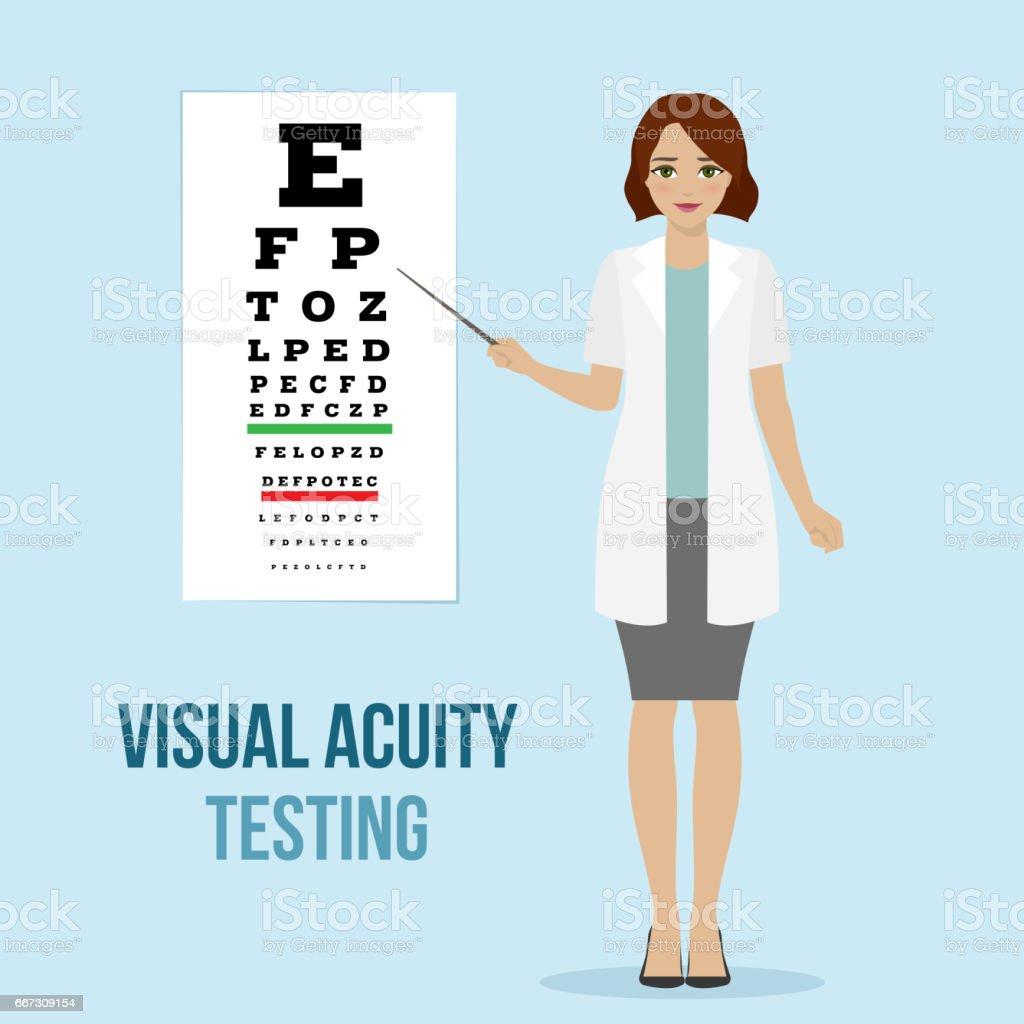 Eye vision test vector art illustration