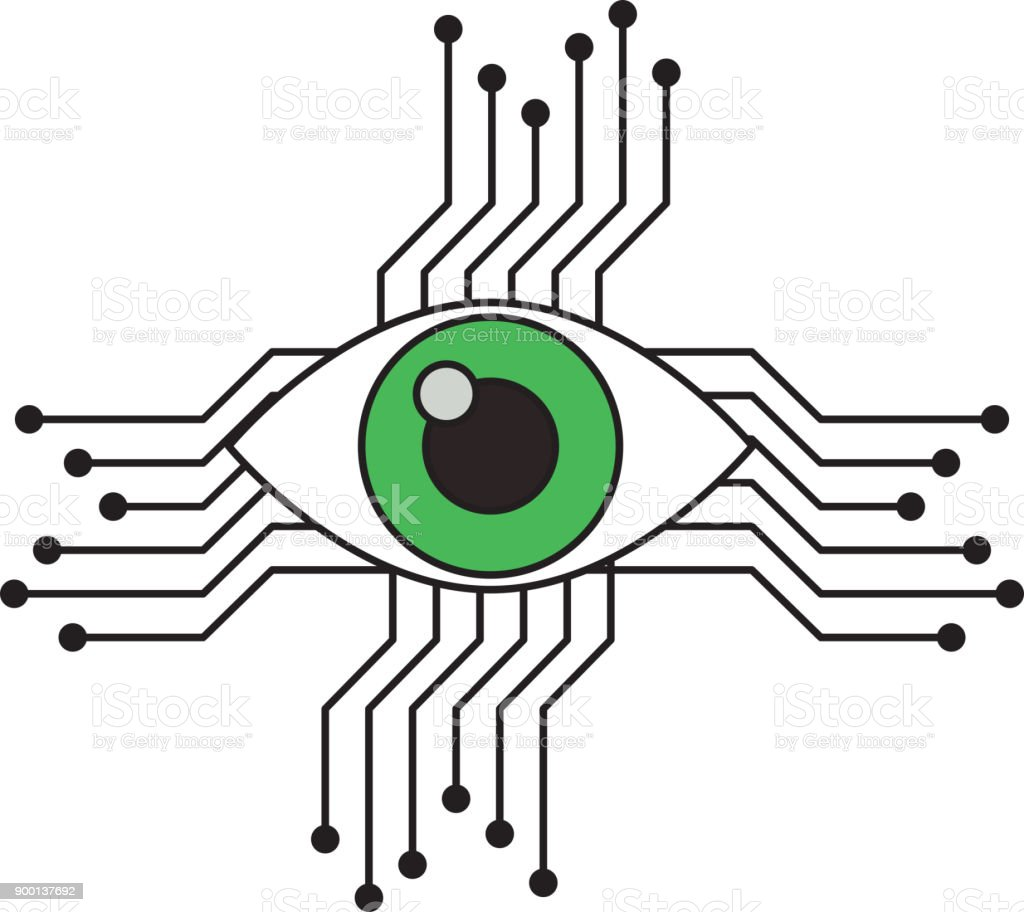 Auge Mit Schaltung Symbol Stock Vektor Art und mehr Bilder von Auge ...