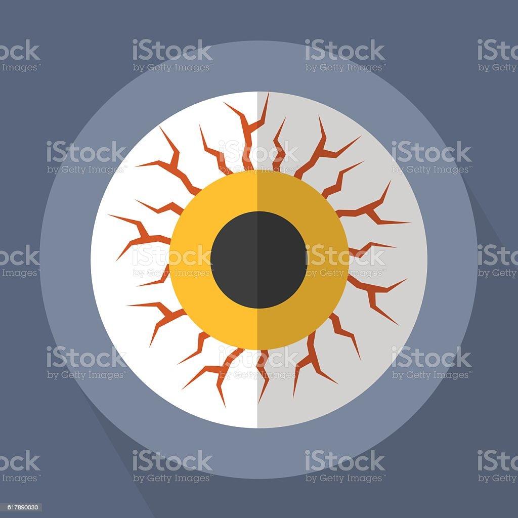 Eye Zombie Monster vector art illustration