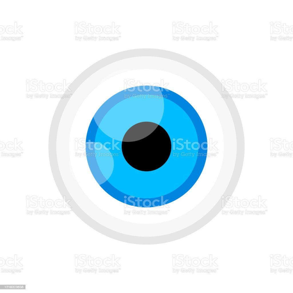 Eyeball Blue Color Isolated On White Eye Graphic Blue For Icon Eyeball Illustration For Clip Art Eyesight Symbol Eyeball Cartoon For Look View Vision And See Concept Stock Illustration Download Image