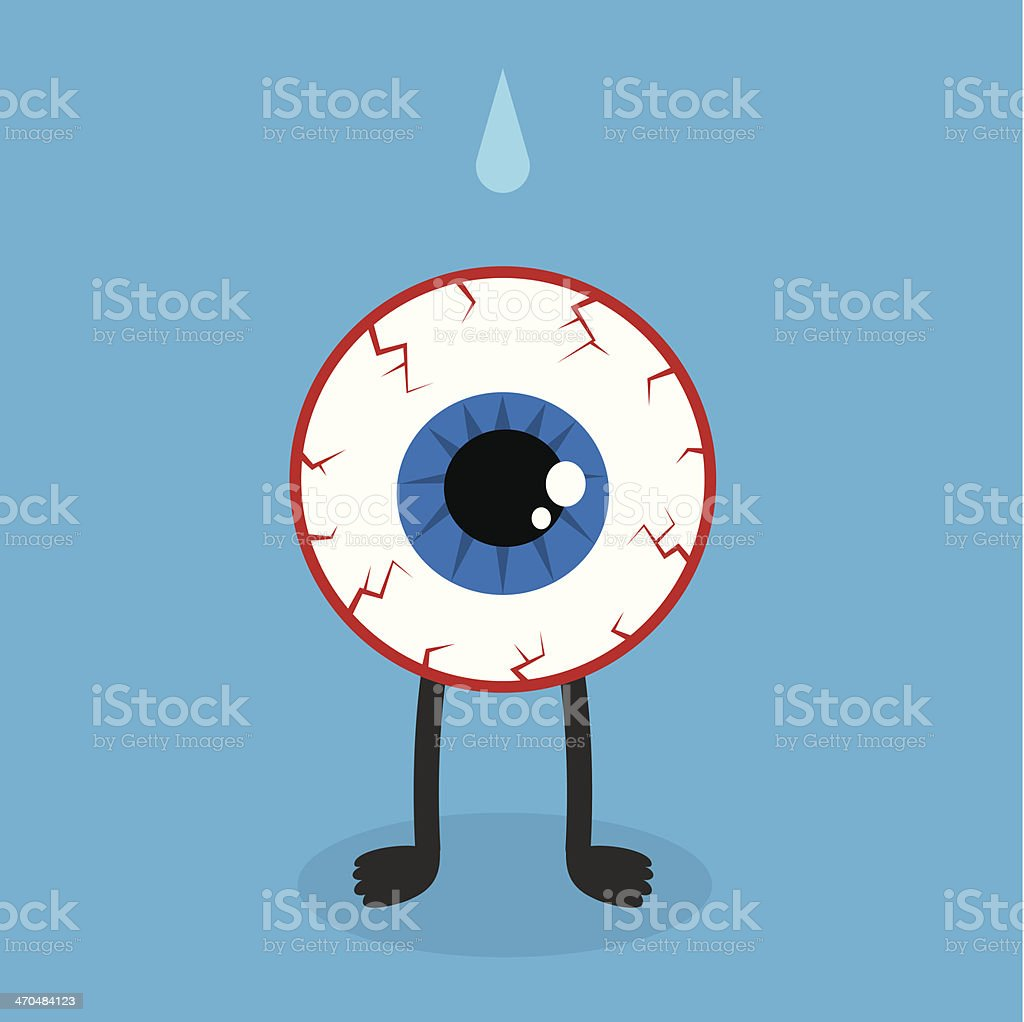 Eyeball Character Bloodshot vector art illustration
