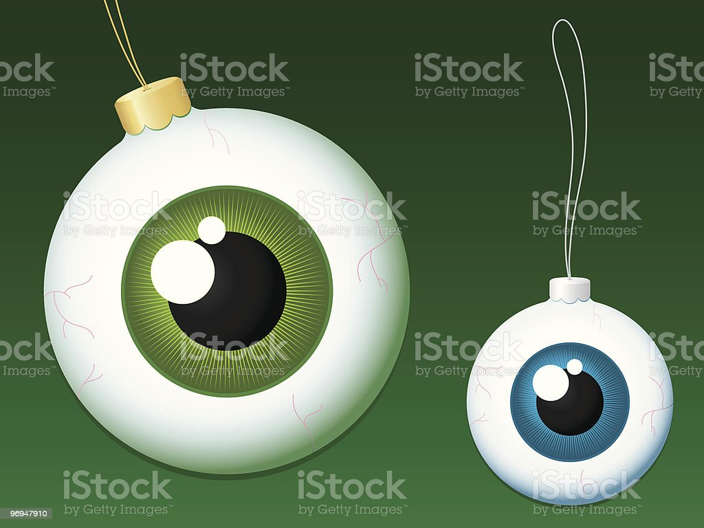 Eyeball christmas baubles royalty-free eyeball christmas baubles stock vector art & more images of advent
