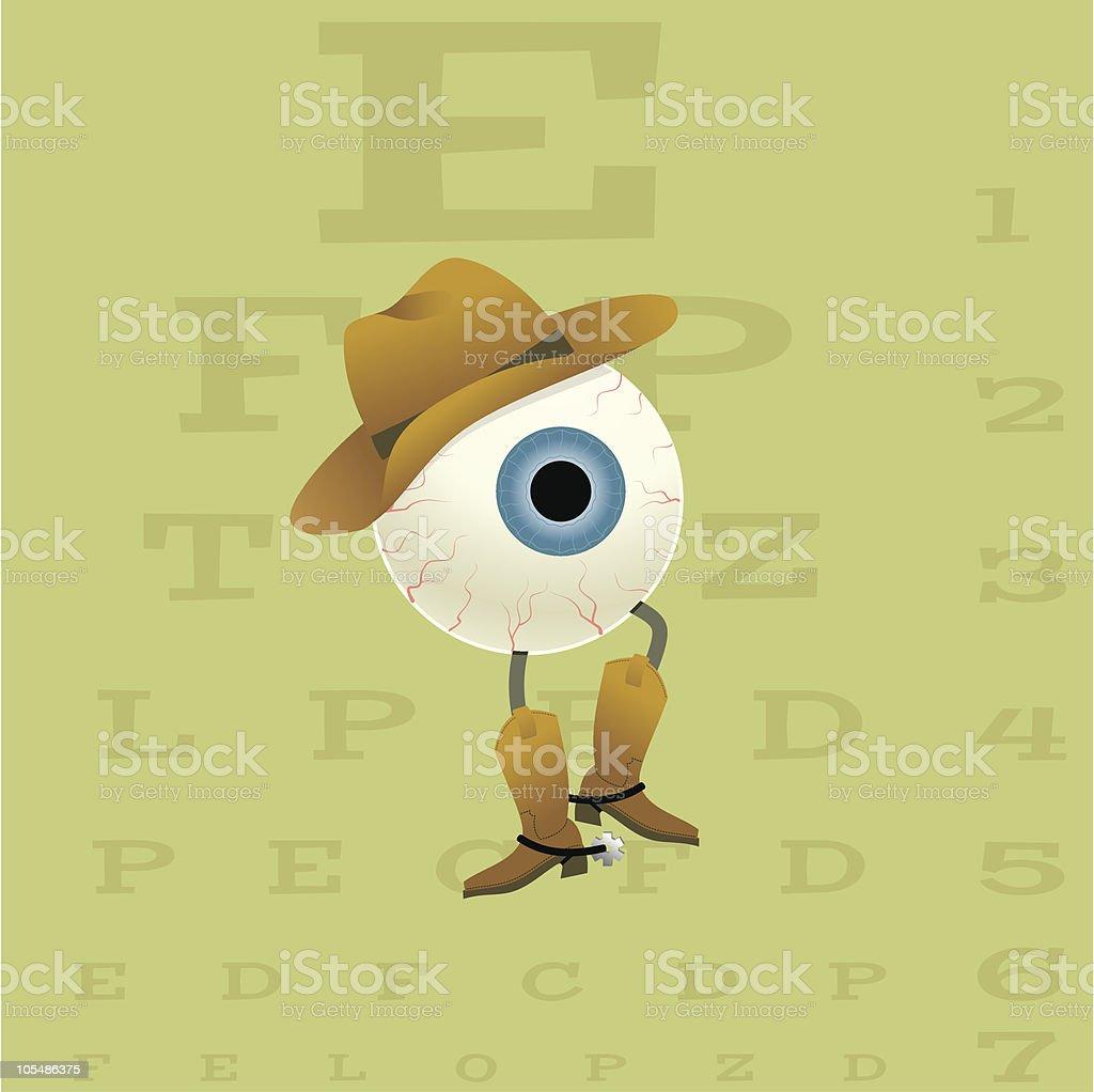 eyeball cowboy royalty-free stock vector art