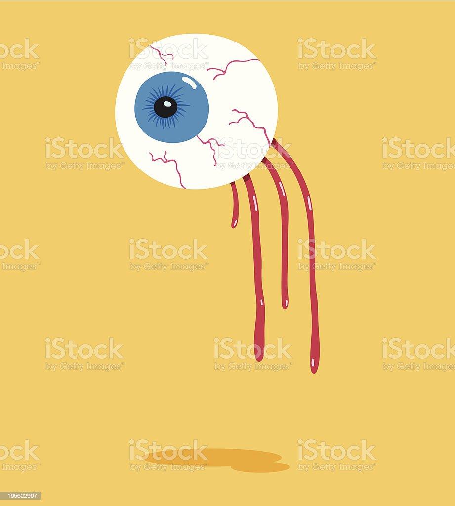 Eyeball Detached vector art illustration