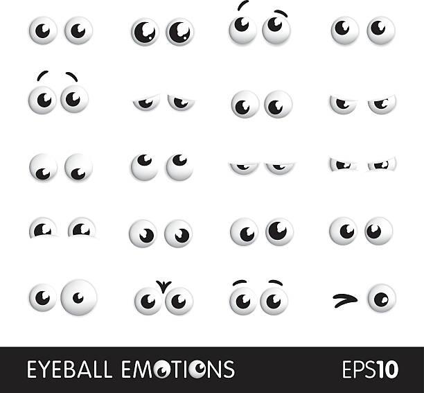 глазное яблоко эмоции - глазное яблоко stock illustrations