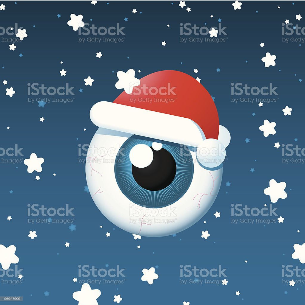 Eyeball santa on snowy background royalty-free eyeball santa on snowy background stock vector art & more images of advent