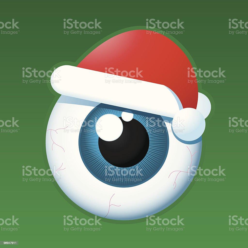 Eyeball santa royalty-free eyeball santa stock vector art & more images of advent