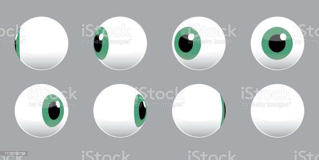 Ilustración vectorial de giro de globo ocular 3D - arte vectorial de Embrujado libre de derechos