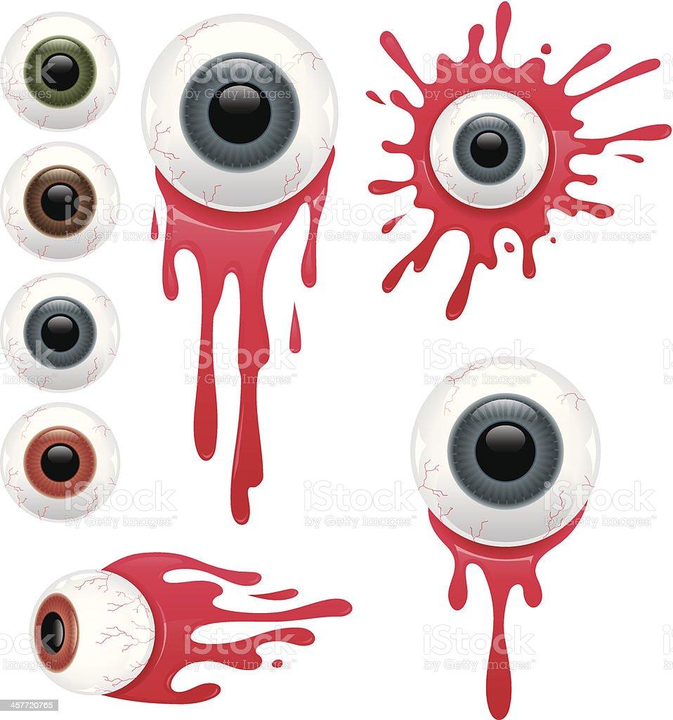 Eyeballs in Blood royalty-free stock vector art