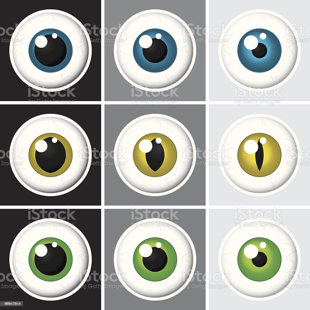 Eyeballs - vector royalty-free eyeballs vector stock vector art & more images of blue