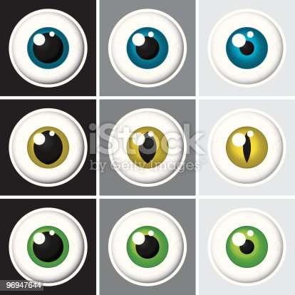 Eyeballs Vector Stock Vector Art & More Images of Blue 96947644