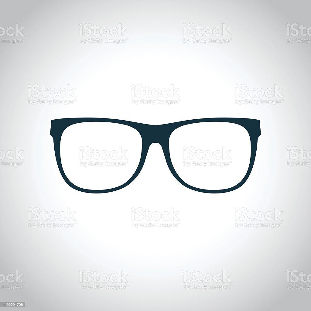 Eyeglasses black icon vector art illustration