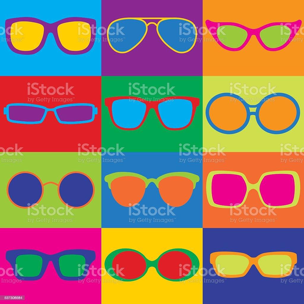 Eyeglasses Checkerboard vector art illustration