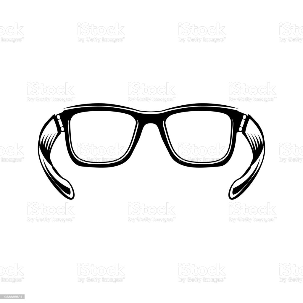 App with glasses icon design