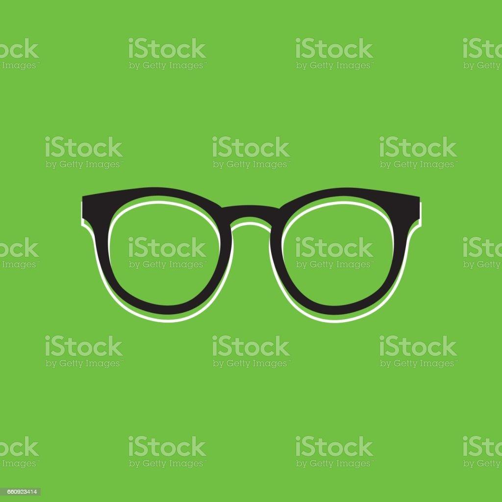 Eyeglasses Green icon vector art illustration