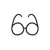 Eyeglasses sketch icon