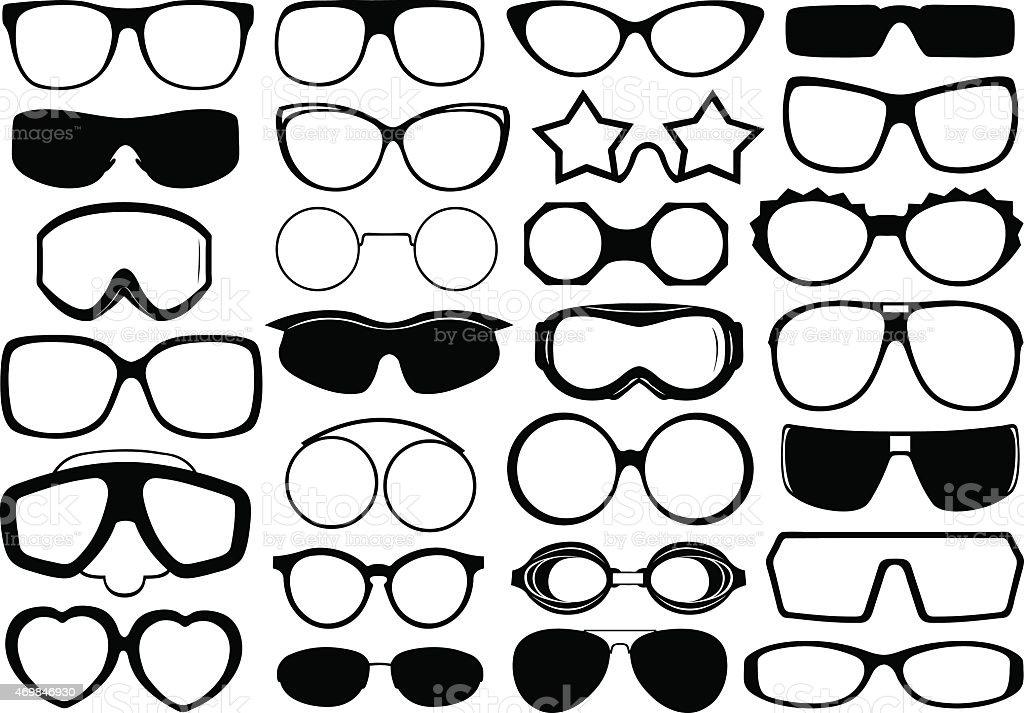 Eyeglasses vector art illustration