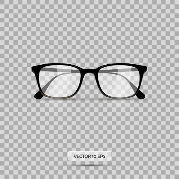 eyeglasses. vector illustration. geek glasses isolated on a white background. realistic icon eyeglasses. - okulary stock illustrations