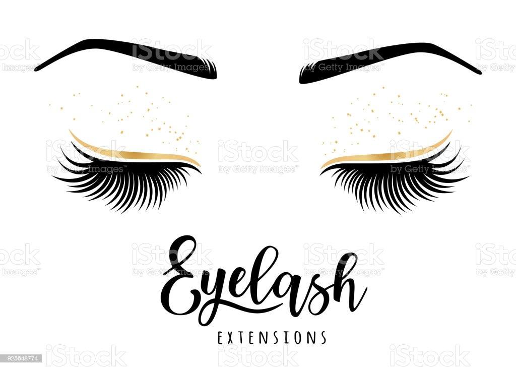 375e25776c3 Eyelash extensions logo. Vector illustration of lashes. royalty-free eyelash  extensions logo vector