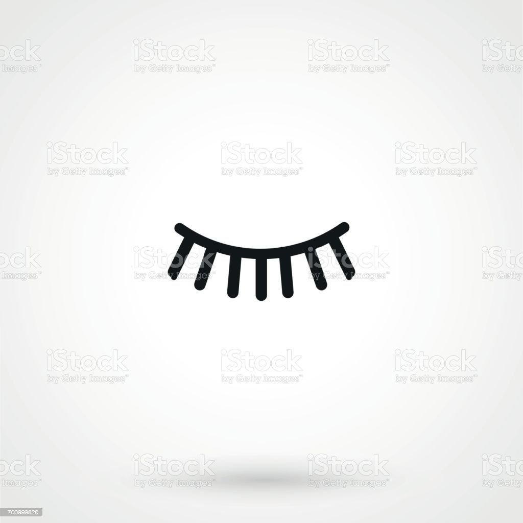 eyelash icon vector vector art illustration