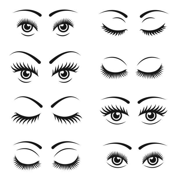 睫毛圖示集 - 睫毛 幅插畫檔、美工圖案、卡通及圖標