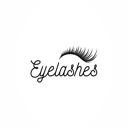 Eyelashes icon vector
