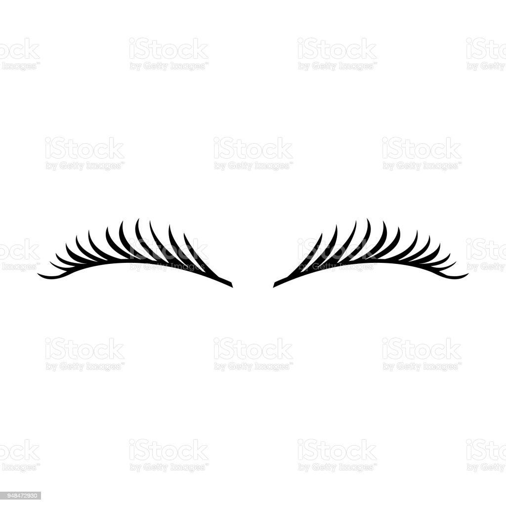 f77ea01fc3203 Cílios longos vector ícone, ícone da moda ilustração de cílios longos  vector ícone ícone da