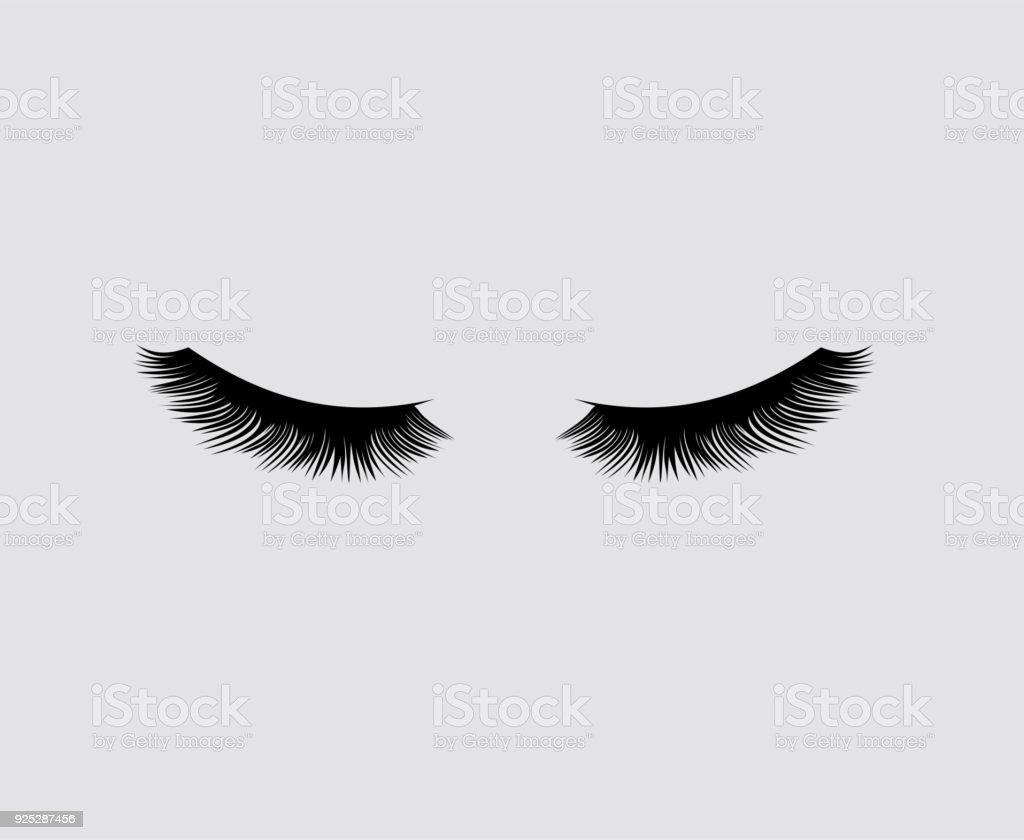 Eyelashes vector illustration - Illustration...