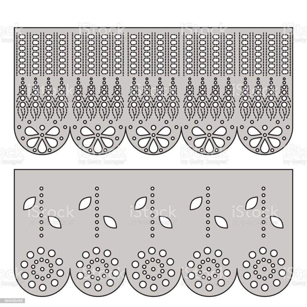 Ilustración de Ornamento Decorativo De Encaje De Ojal Para El Borde ...