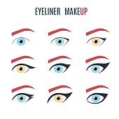 Eyeliner make up types