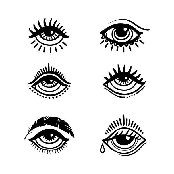 eyes collection - третье око stock illustrations