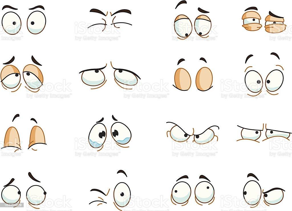 Eyes expressions vector art illustration