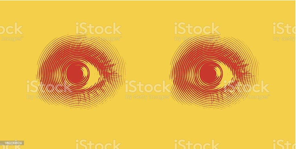 Eyes. Fear. vector art illustration