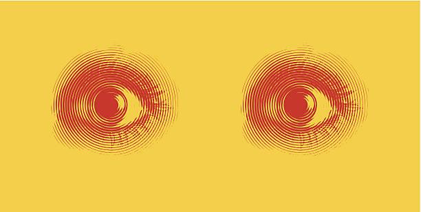 stockillustraties, clipart, cartoons en iconen met eyes. fear. - paranoïde