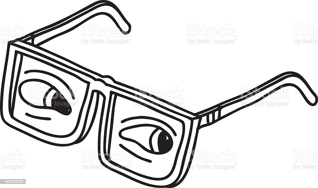 420385d71b1a Eyes in Glasses Drawing royalty-free eyes in glasses drawing stock vector  art  amp