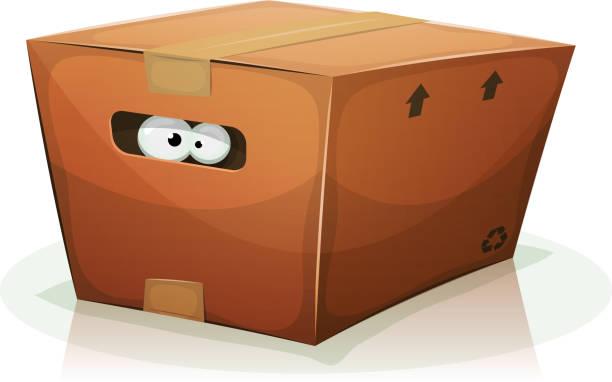 augen in karton - arbeitshunde stock-grafiken, -clipart, -cartoons und -symbole