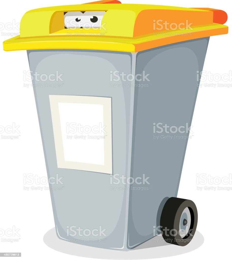 Eyes Inside Trash Bin royalty-free stock vector art